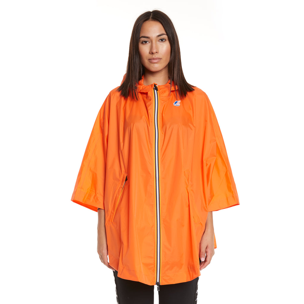 Women's Le Vrai 3.0 Morgan Full Zip Poncho Orange Flame