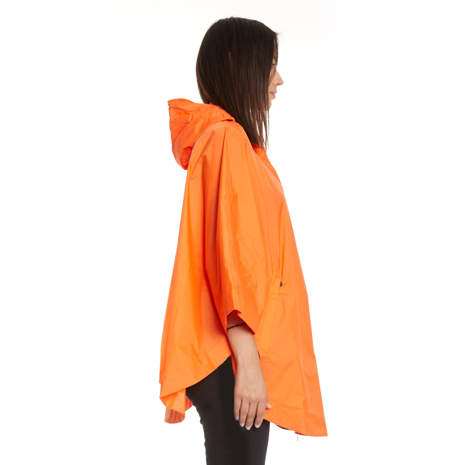 K-Way Women's Le Vrai 3.0 Morgan Full Zip Poncho Orange Flame