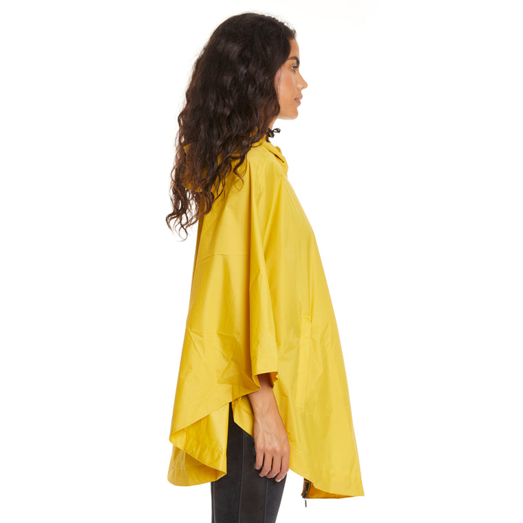 Women's Le Vrai 3.0 Morgan Full Zip Poncho Yellow Mustard