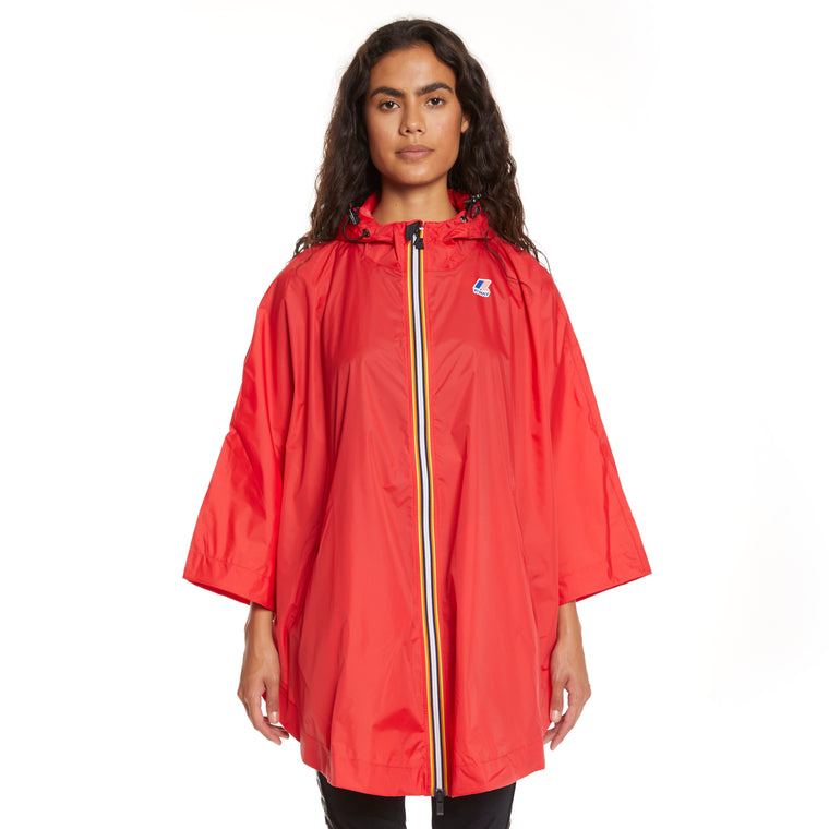Women's Le Vrai 3.0 Morgan Full Zip Poncho Red