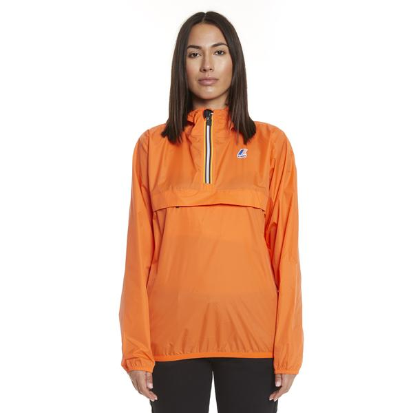 K-Way Women's Le Vrai 3.0 Leon Half Zip Jacket Orange Flame