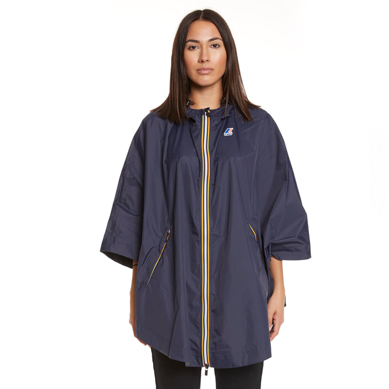 Women's Le Vrai 3.0 Morgan Full Zip Poncho Blue Depth