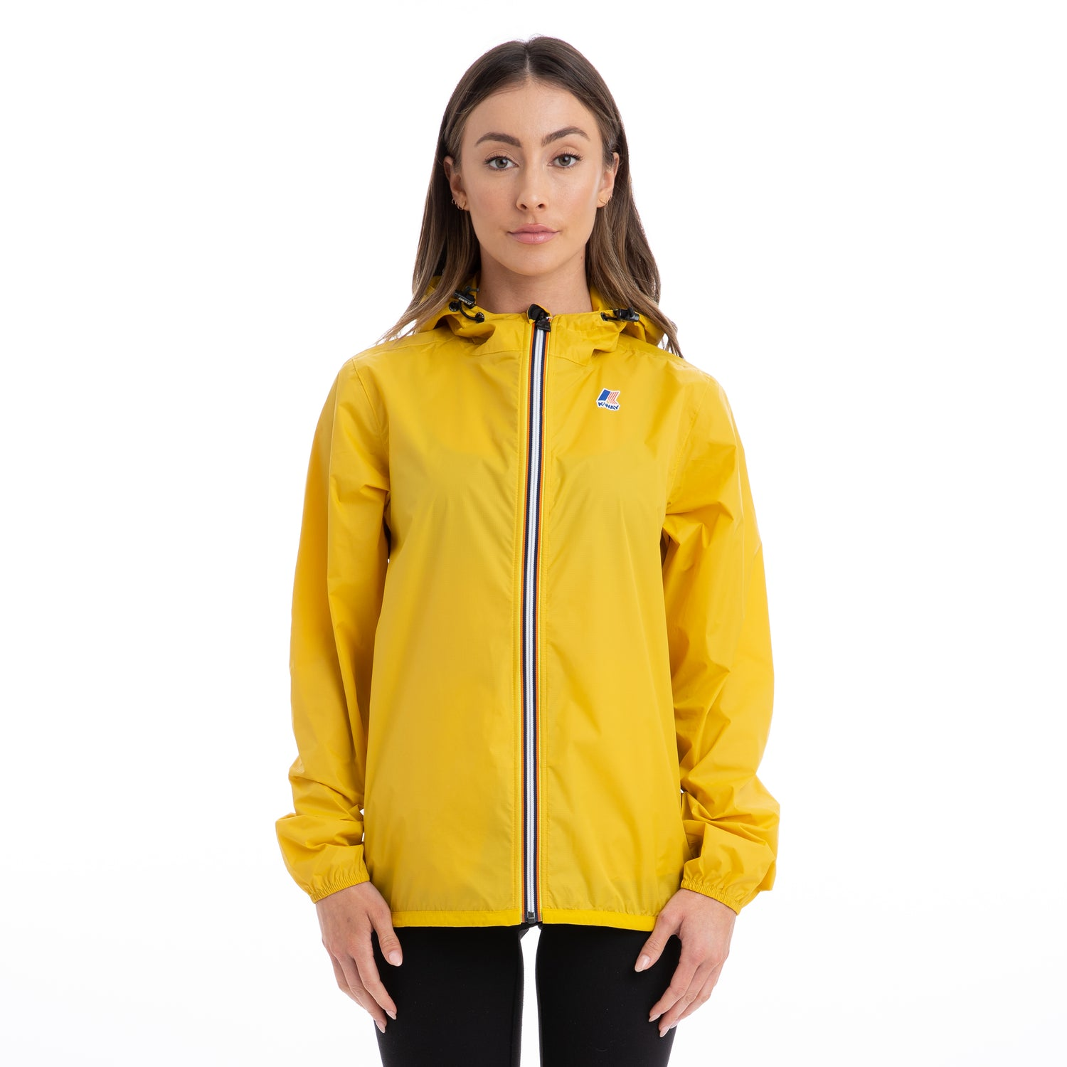 K-Way Women's Le Vrai 3.0 Claude Full Zip Jacket Yellow Mustard