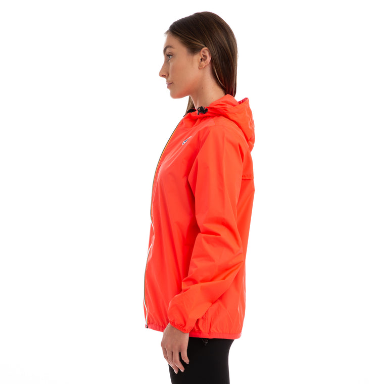 K-Way Women's Le Vrai 3.0 Claude Full Zip Orange Flame