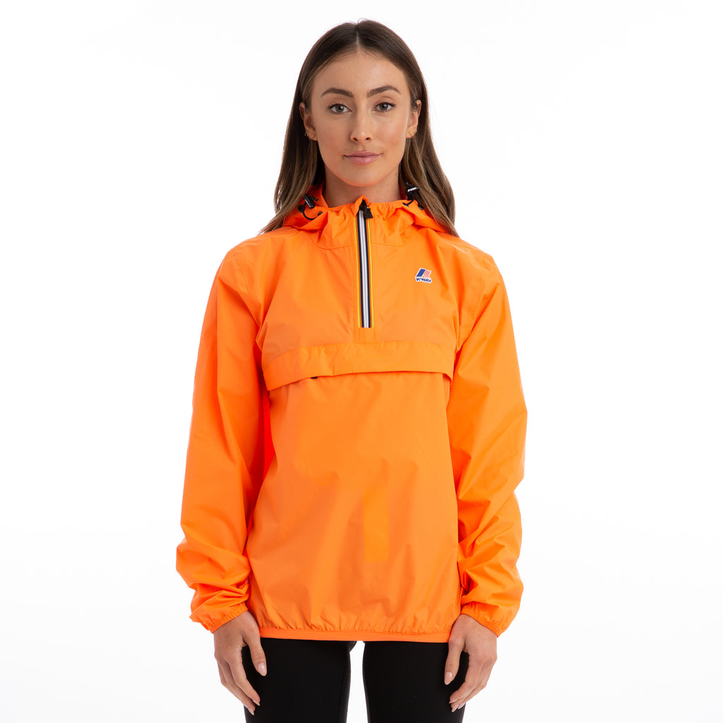 K-Way Women's Le Vrai 3.0 Leon Half Zip Jacket Orange Extrafluo