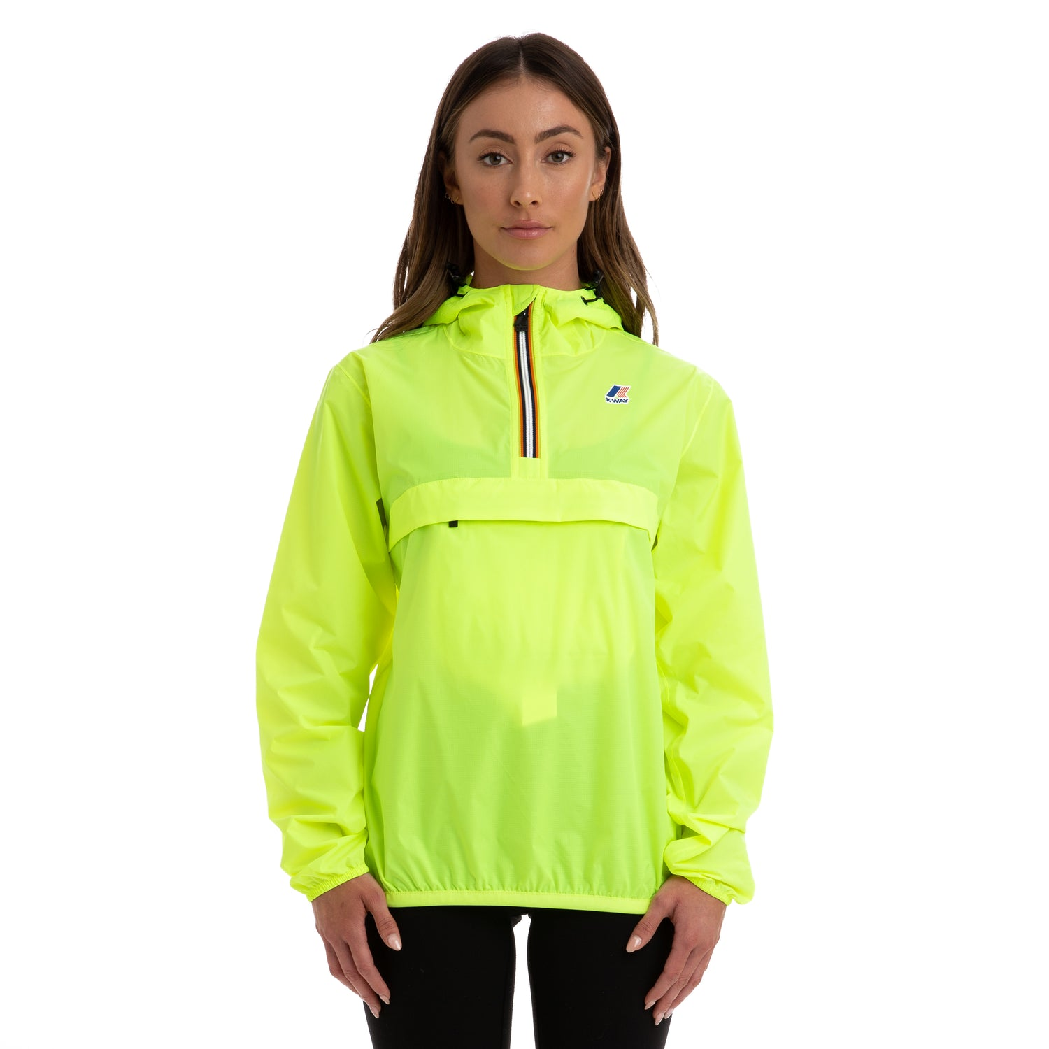 K-Way Women's Le Vrai 3.0 Leon Half Zip Jacket Jacket Yellow Fluo