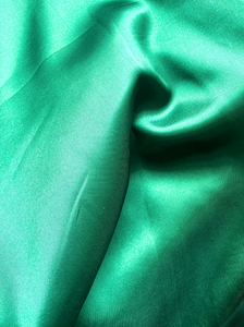 Emerald Green Satin Traditional Full Wrap