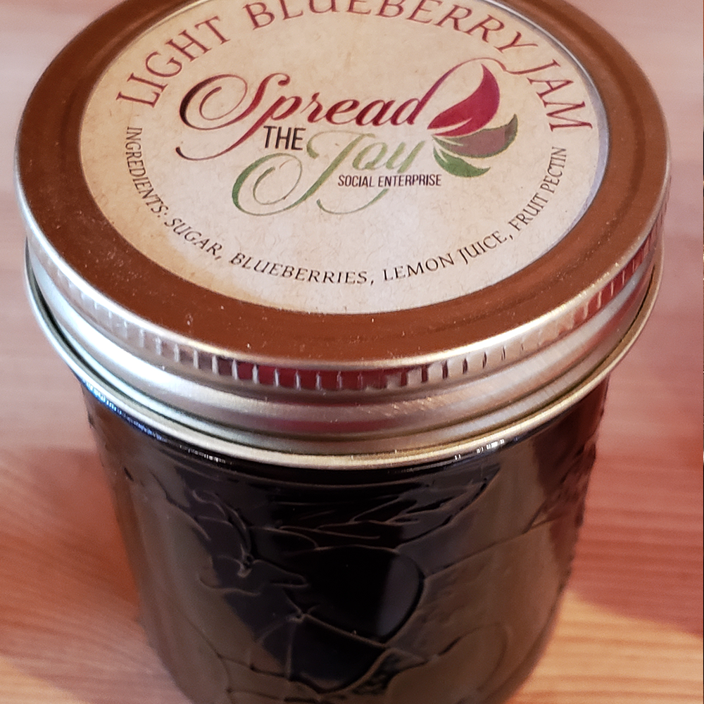 Spread The Joy Light Blueberry Jam