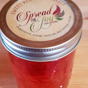Spread The Joy Sweet Red Pepper Jelly