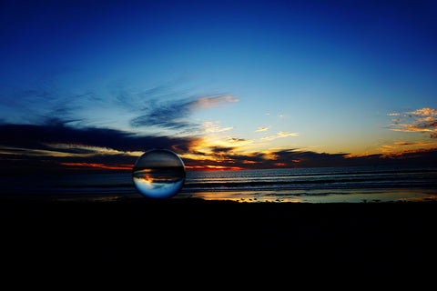 Bio-Orb beach sunset refraction photography