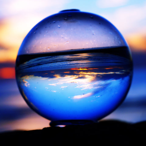 Bio-Orb refraction photo at beach sunset