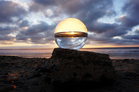 Bio-Orb on beach refraction photo Carlsbad Beach
