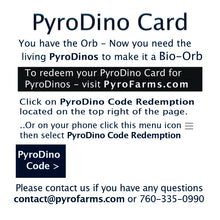 PyroDino Card back