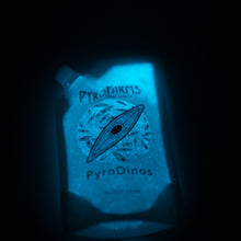 PyroDino bioluminescent dinos at night in spout pouch