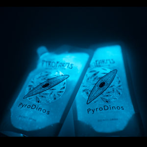 PyroDinos double pouch nighttime bioluminecence dark pyrofarms algae dinoflagellates illustration oxygen