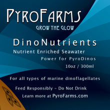 DinoNutrients nutrient enriched seawater PyroDinos