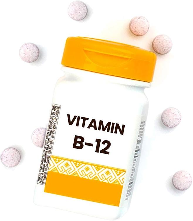 Vitamin B12 bottle