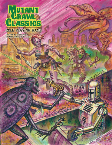 Mutant Crawl Classics (Post Apocalyptic RPG, Hardback)