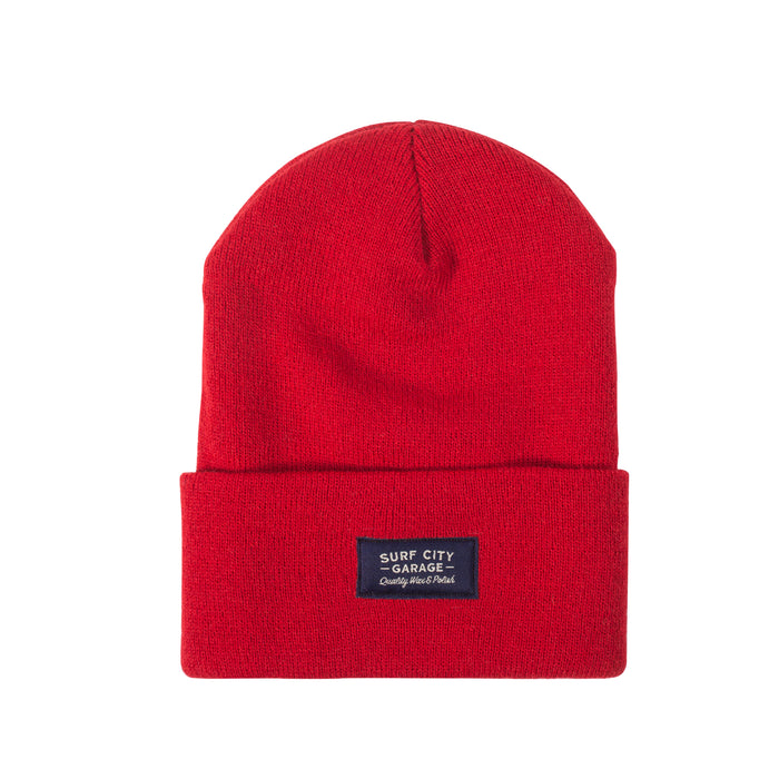 Surf City Garage Beanie - Red