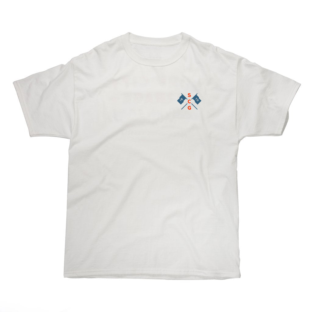 The Racing Tee - White