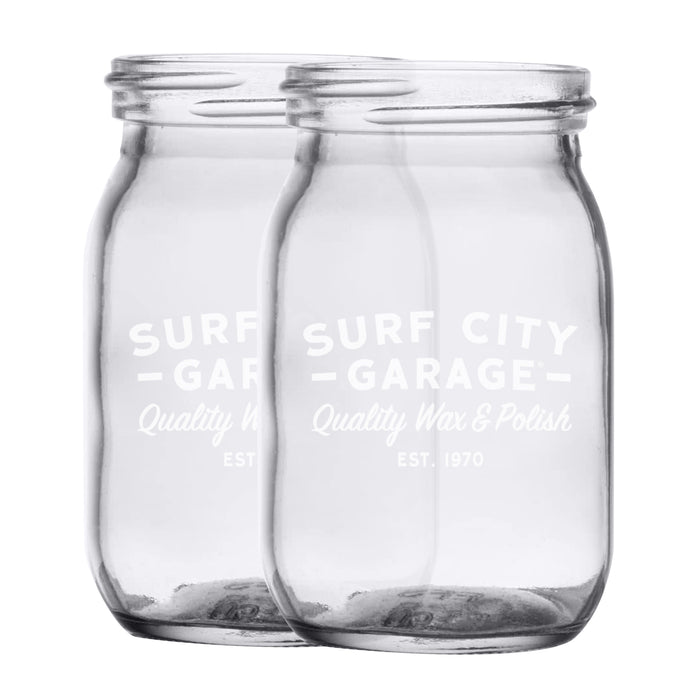 Surf City Garage Mason Jars - Set Of 2