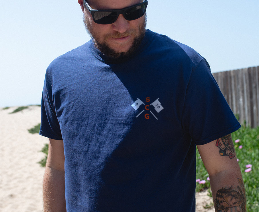 The Racing Tee - Navy