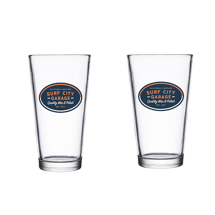 Surf City Garage Pint Glass Set