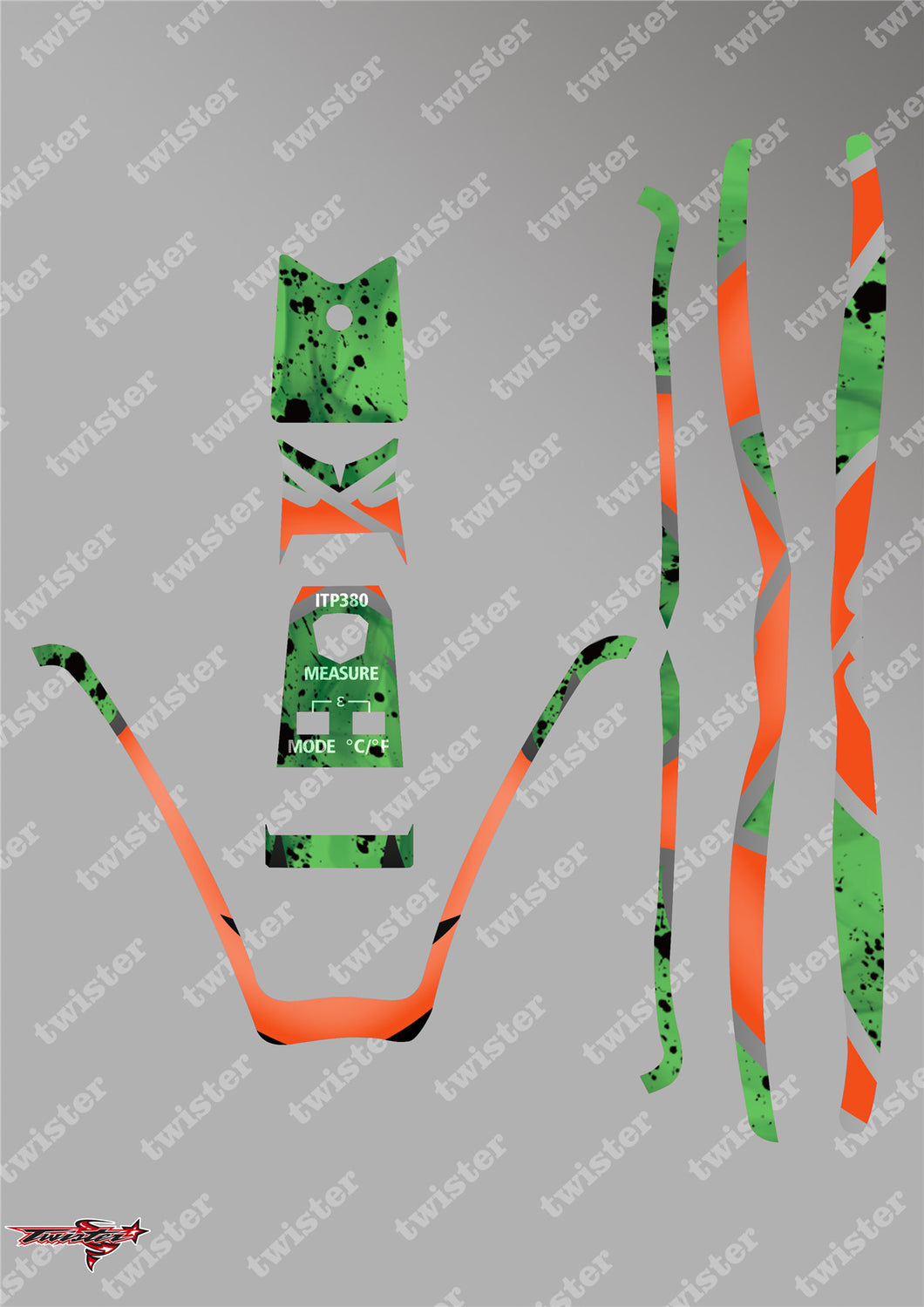 TR-380-MA7 Sky RC ITP380 Metallochrome Wave Pattern Radio Wrap ( Type A7 )4Colors