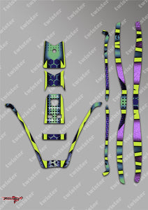 TR-380-MA9 Sky RC ITP380 Metallochrome Wave Pattern Radio Wrap ( Type A9 ) 4 colour