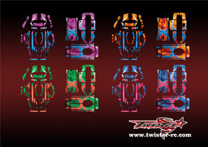 TR-4PM-MA7 Futaba 4PM Metallochrome Wave Pattern Radio Wrap ( Type A7 ) 4colors