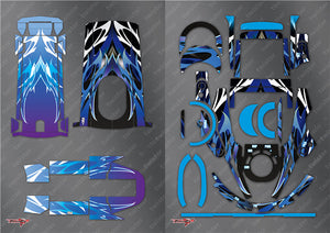 TR-4PX-MA2 Futaba 4PX Metallochrome Wave Pattern Radio Wrap( Type A2 ) 4colors