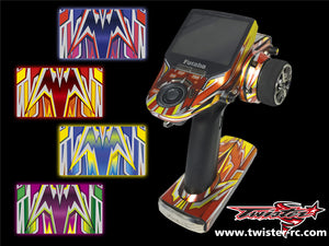 TR-4PX-MA4 Futaba 4PX Metallochrome Wave Pattern Radio Wrap ( Type A4 ) 4colors