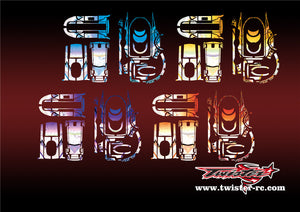 TR-7PX-MA6 Futaba 7PX Metallochrome Wave Pattern Radio Wrap ( Type A6 )4 Colors