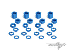 TR-AC12 Aluminum 3mm Bore Washer Set ( Tamiya Blue ) 0.5, 0.75 ,1 ,2 ,3 ,5mm each 4pcs.