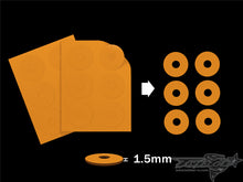 TR-AC92 Foam Body Spacer 1.5/2.0/2.5mm (  6.1x22mm 12pcs. )