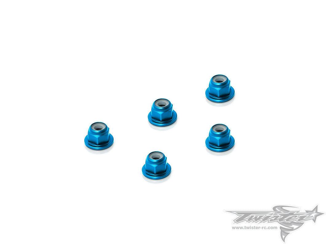 TR-AL-3FLN Aluminium Flange Lock Nuts 3mm  5pcs.