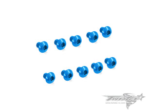 TR-ALS-BB 7075-T6 M3 Hex. Socket Button Head Screw (Blue) 10pcs.