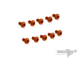 TR-ALS-BO 7075-T6 M3 Hex. Socket Button Head Screw (Orange) 10pcs.