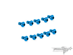 TR-ALS-UB 7075-T6 M3 Hex. Socket UFO Head Screw(Blue)  10pcs.