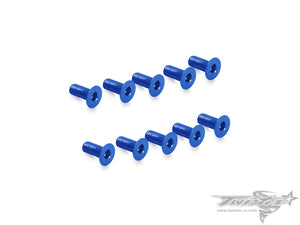 TR-ALS-CDB 7075-T6 M3 Hex. Countersink Screw (Dark Blue) 10pcs.