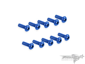 TR-ALS-BDB 7075-T6 M3 Hex. Socket Button Head Screw (Dark Blue) 10pcs.