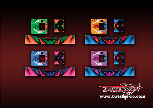 TR-D2-MA7 ISDT D2 Charger Metallochrome Wave Pattern Radio Wrap ( Type A7 )4Colors