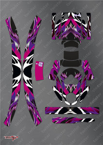 TR-EAR-MA2 Eartec  Metallochrome Wave Pattern  Wrap ( Type A2 )2pcs. 4 colors