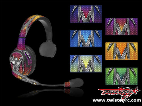 TR-EAR-MA3 Eartec Metallochrome Wave Pattern Wrap ( Type A3 ) 6 colors