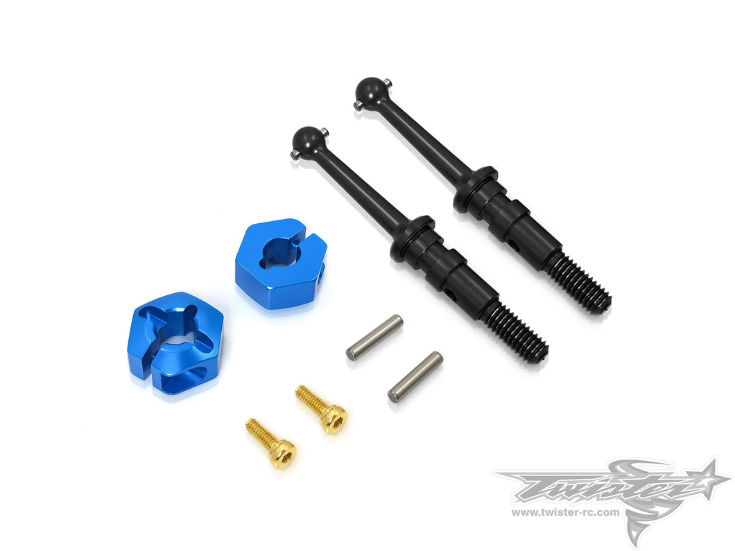 TR-EP100C-T301 Drive Shaft with Clip 12mm Wheel Adapter ( Tamiya T301 )