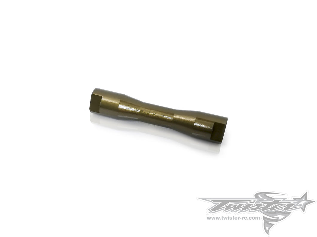 TR-EP100G-T301 7075-T6 Hard Coated Alu. Front Axle Shaft For Tamiya T301