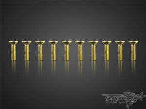 TR-GST-C Gold Plated M3 Hex. Countersink Screws