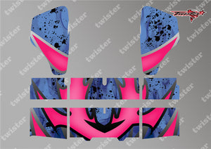 TR-HBW-MA7 HB Racing Wing Metallochrome Wave Pattern Radio Wrap ( Type A7 )4Colors