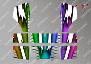 TR-HBW-MA8 HB Racing Wing Metallochrome Wave Pattern Radio Wrap ( Type A8 ) 4colors