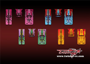 TR-HO-MA9 Hudy Off Road Starter Box Metallochrome Wave Pattern Radio Wrap ( Type A9 ) 4colors